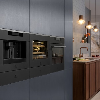 Electrolux appliances including SteamPro oven in matt black